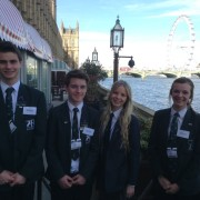 Four pupils from Bohunt School, Liphook, at the data security lunch, 17 March 2014